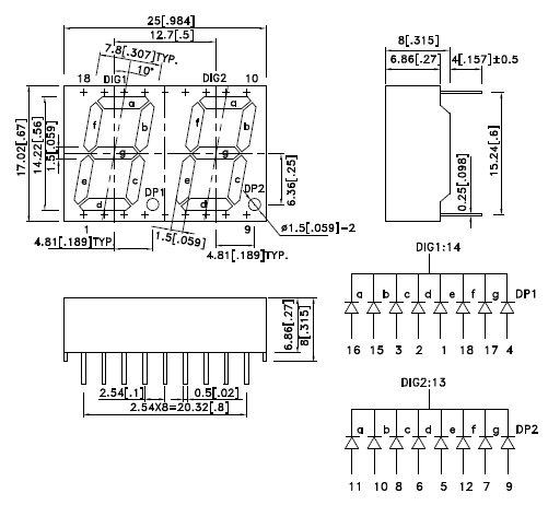 BC56-11SRWA, 7-сегментный